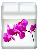 Green Field Sweetheart Orchid No 1 Duvet Cover