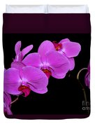 Green Field Sweetheart Orchid No 2 Duvet Cover