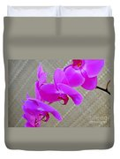 Green Field Sweetheart Orchid No 3 Duvet Cover