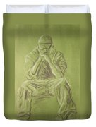 Green Figure I Duvet Cover