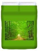Green Forest Tunnel Duvet Cover