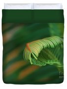 Green Frond  Abstract Duvet Cover