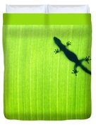 Green Gecko Leaf Duvet Cover