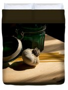 Green Glass And Garlic Duvet Cover