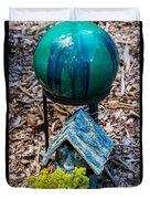 Green Globe Duvet Cover