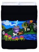 Green Goddess Coffee Duvet Cover