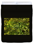 Green Gold Water Abstract. Feng Shui Duvet Cover by Jenny Rainbow
