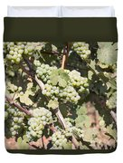 Green Grapes Growing On Grapevines Duvet Cover