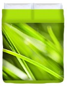 Green Grass Abstract Duvet Cover by Elena Elisseeva