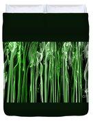 Green Grass Smoke Photography Duvet Cover