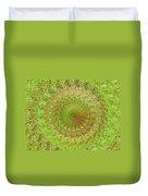 Green Grass Swirled Duvet Cover