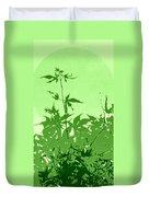 Green Green Haiku Duvet Cover