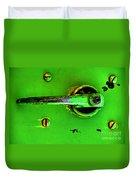 Green Handle Duvet Cover