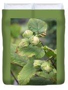 Green Hazelnuts Duvet Cover