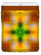Green Heart Rainbow Light Mandala Duvet Cover