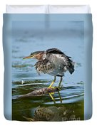 Green Heron Pictures 469 Duvet Cover