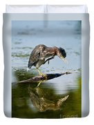 Green Heron Pictures 488 Duvet Cover