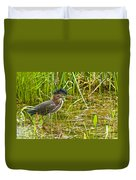Green Heron Pictures 545 Duvet Cover