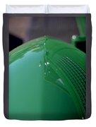 Green Hotrod Duvet Cover