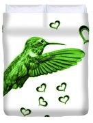 Green Hummingbird - 2055 F S M Duvet Cover