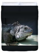 Green Iguana 1 Duvet Cover