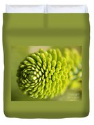 Green Inifinity Duvet Cover