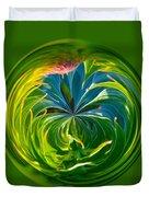 Green Leaf Orb Duvet Cover