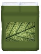 Green Leaf Texture Duvet Cover