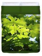 Green Leaves Canvas Duvet Cover