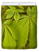 Green Leaves Series Duvet Cover by Heiko Koehrer-Wagner