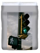Green Light Walk Duvet Cover