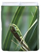Green Lizard Duvet Cover