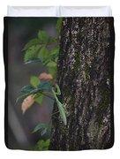 Green Mantis Duvet Cover
