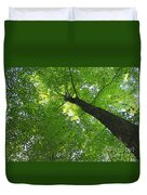 Green Maple Canopy Duvet Cover