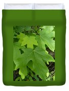 Green Maple Leaves Duvet Cover