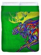 Green Mega Moose Duvet Cover