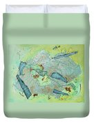 Green Of The Earth Plane Duvet Cover