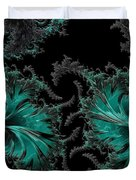 Green Paisley - A Fractal Abstract Duvet Cover