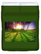 Green Park At Sunset Duvet Cover by Michal Bednarek