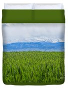 Green Pastures Duvet Cover