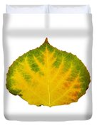 Green Red And Yellow Aspen Leaf 2 Duvet Cover