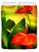 Green Red Duvet Cover