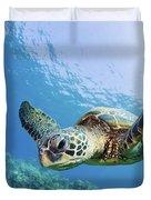 Green Sea Turtle - Maui Duvet Cover