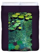 Green Shimmering Pond Duvet Cover