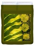 Green Silk 03 Duvet Cover