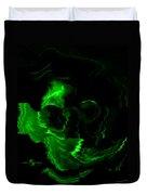 Green Skull Duvet Cover