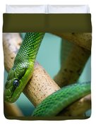 Green Snake Duvet Cover
