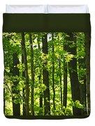 Green Spring Forest Duvet Cover
