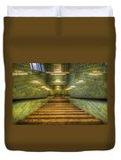 Green Stairs Duvet Cover