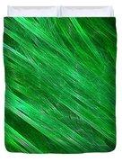 Green Streaming Duvet Cover